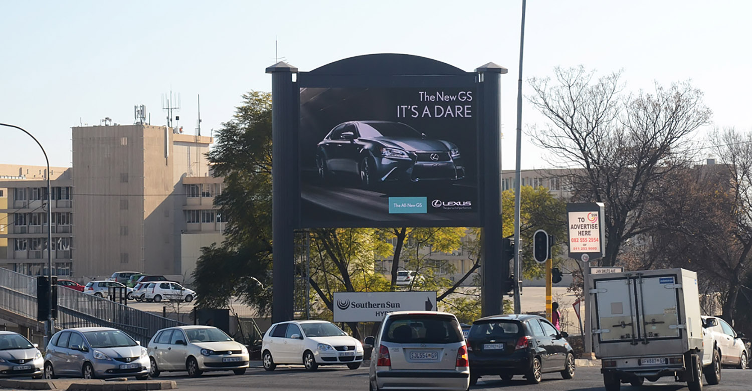 Lexus - JHB - lexus-jhb-digital-outdoor-advertising
